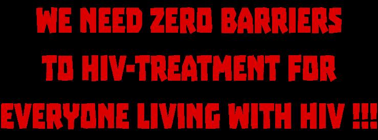 We need Zero barriers
